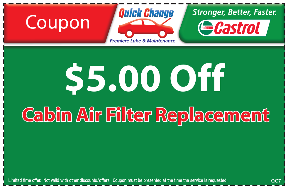 $7 Off Cabin Air Filter Replacement
