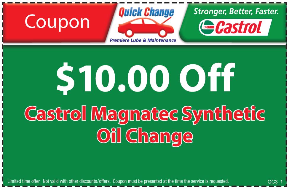 $10 Off Castrol Magnatec Syn. Oil Change