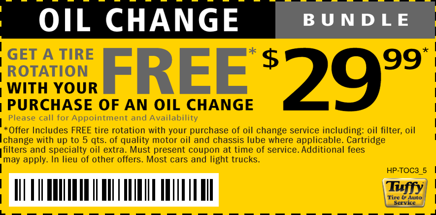 $29.99 Oil Change Bundle With Free Tire Rotation
