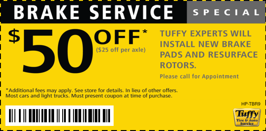 Brake Service Special $50 OFF
