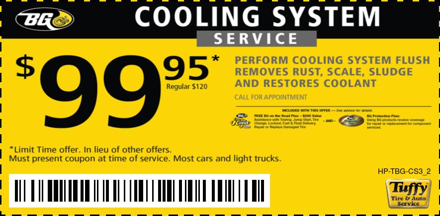 $99.95 BG Cooling System Service Regular Price $120