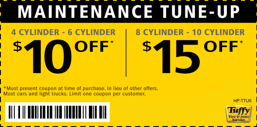 Tune-Up Special $10 OFF/$15 OFF