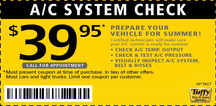 A/C System Check $39.99 - Prepare Your Vehicle For Summer!