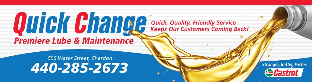 Quick Change Chardon: Chardon, Ohio Oil Change